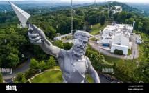 Usa Alabama Birmingham Vulcan Statue Stock &