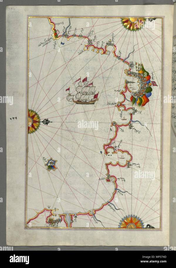 Piri Reis Map Stock - Year of Clean Water