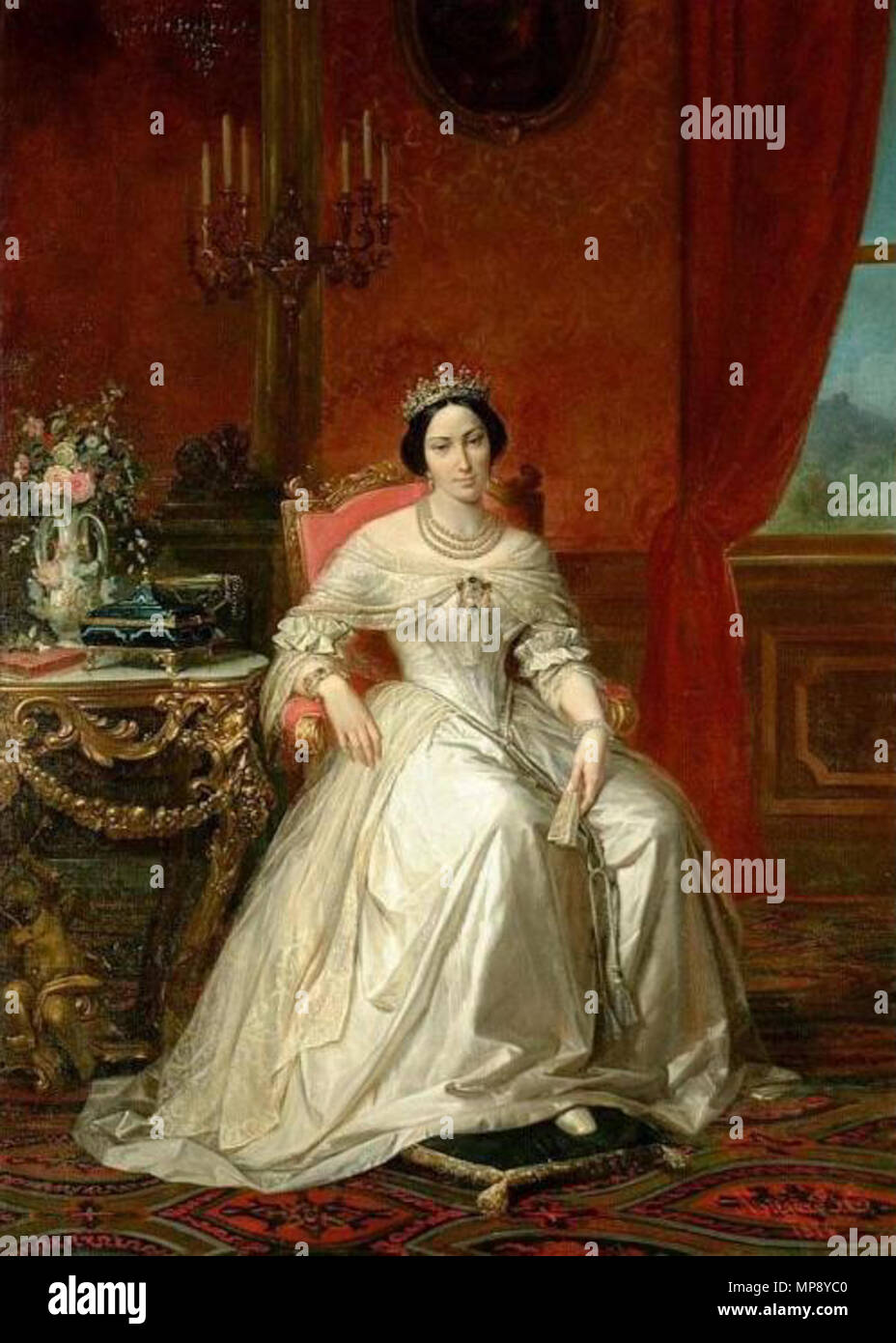 Queen Adelaide : queen, adelaide, English:, Portrait, Queen, Adelaide, Villa, Della, Regina, Circa, 1853., Adelaide,, Stock, Photo, Alamy