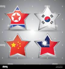 North South Flags Korea Stock &