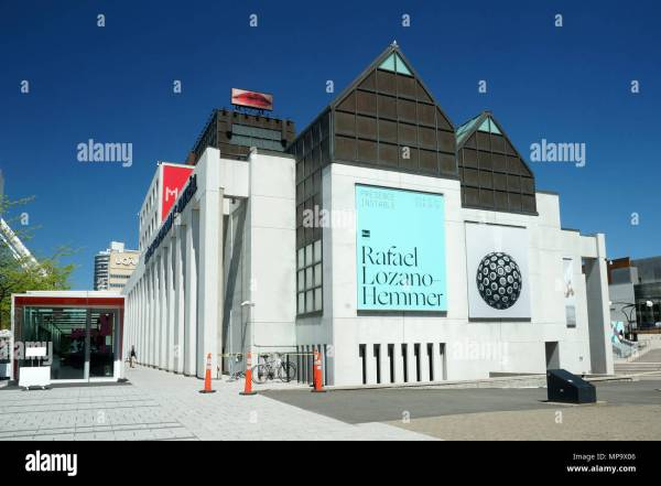Canada Quebec Montreal Museum Contemporary Stock &