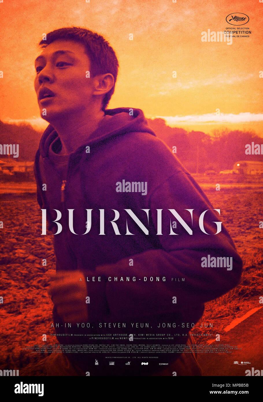 https www alamy com burning aka beoning poster yoo ah in 2018 cgv arthouse courtesy everett collection image185876359 html