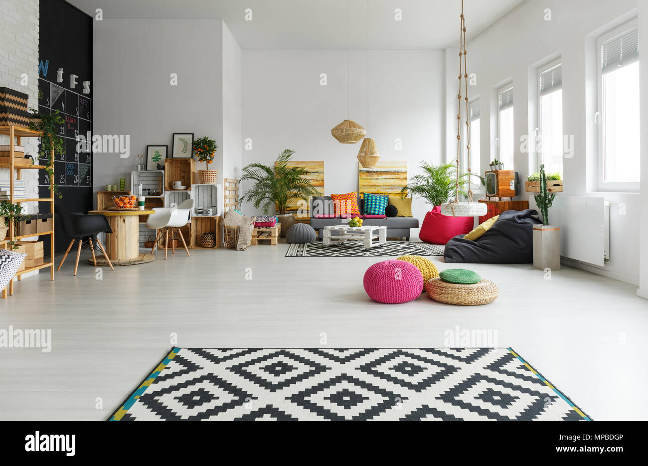 living room pouf sofa designs pictures white with colorful pattern carpet crate furniture