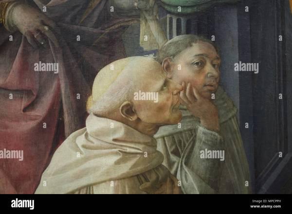 Painting Fra Filippo Lippi Stock &