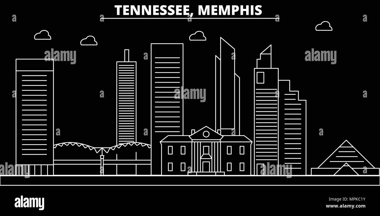 hight resolution of memphis silhouette skyline usa memphis vector city american linear architecture buildings