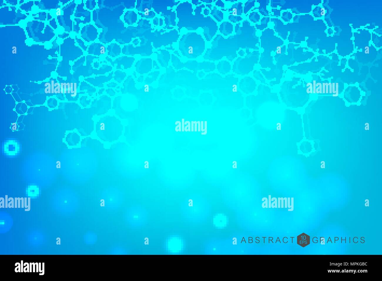 hight resolution of hexagonal abstract background big data visualization global network connection medical technology