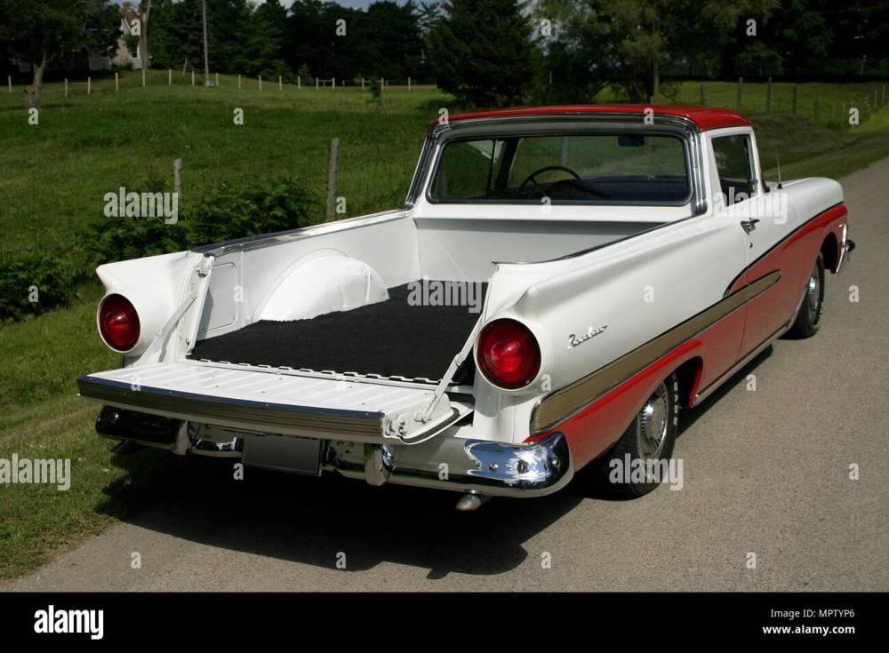 medium resolution of 1958 ford ranchero custom 300 stock image