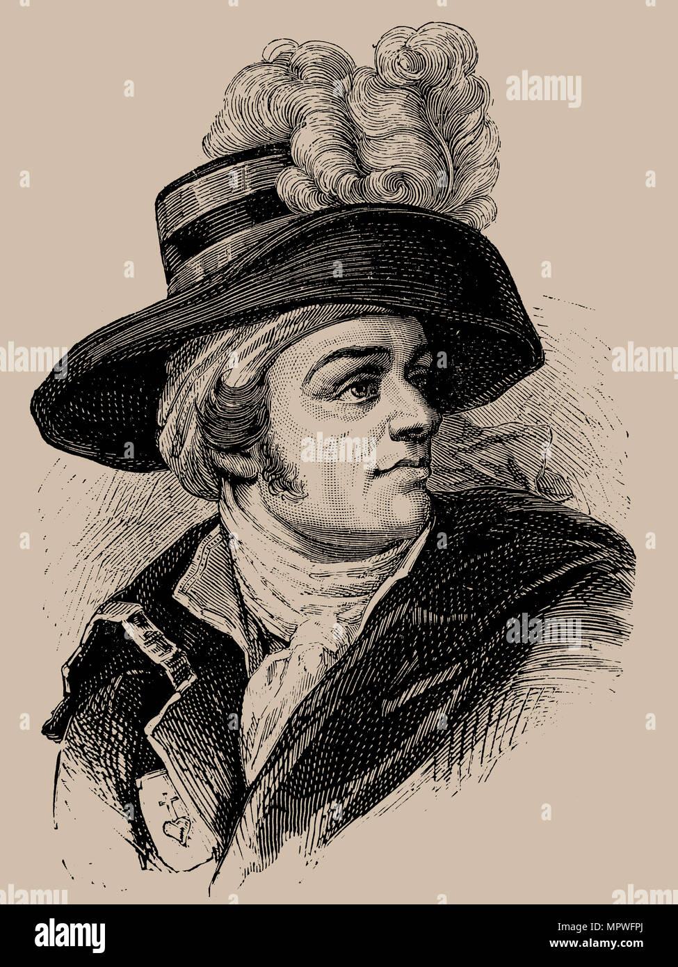 François Athanase Charette De La Contrie : françois, athanase, charette, contrie, François-Athanase, Charette, Contrie, (1763-1796),, Stock, Photo, Alamy