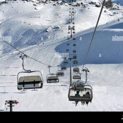 Buy Ski Lift Chair Outdoor High Chairs Babies On Bright Winter Day Stock Photo 186309316 Alamy