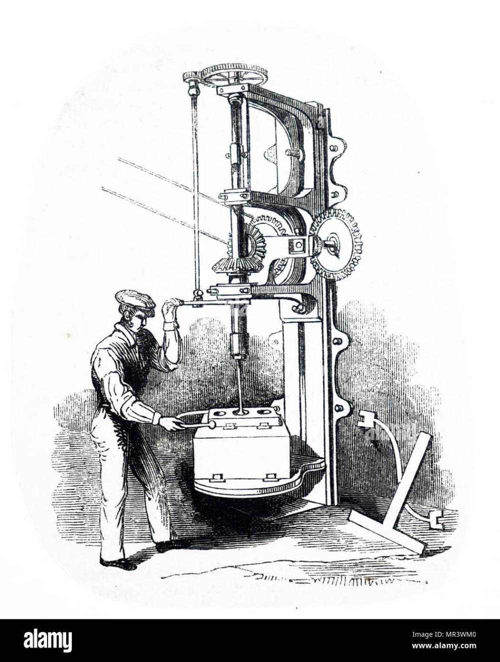 medium resolution of illustration depicting the boring of the cylinder of a steam engine vulcan foundry washington