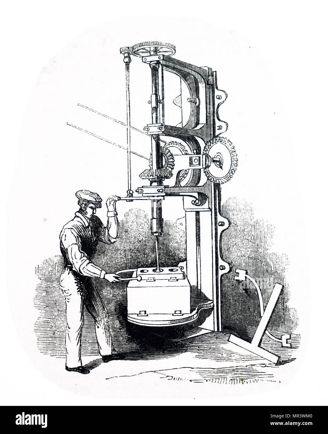 hight resolution of illustration depicting the boring of the cylinder of a steam engine vulcan foundry washington