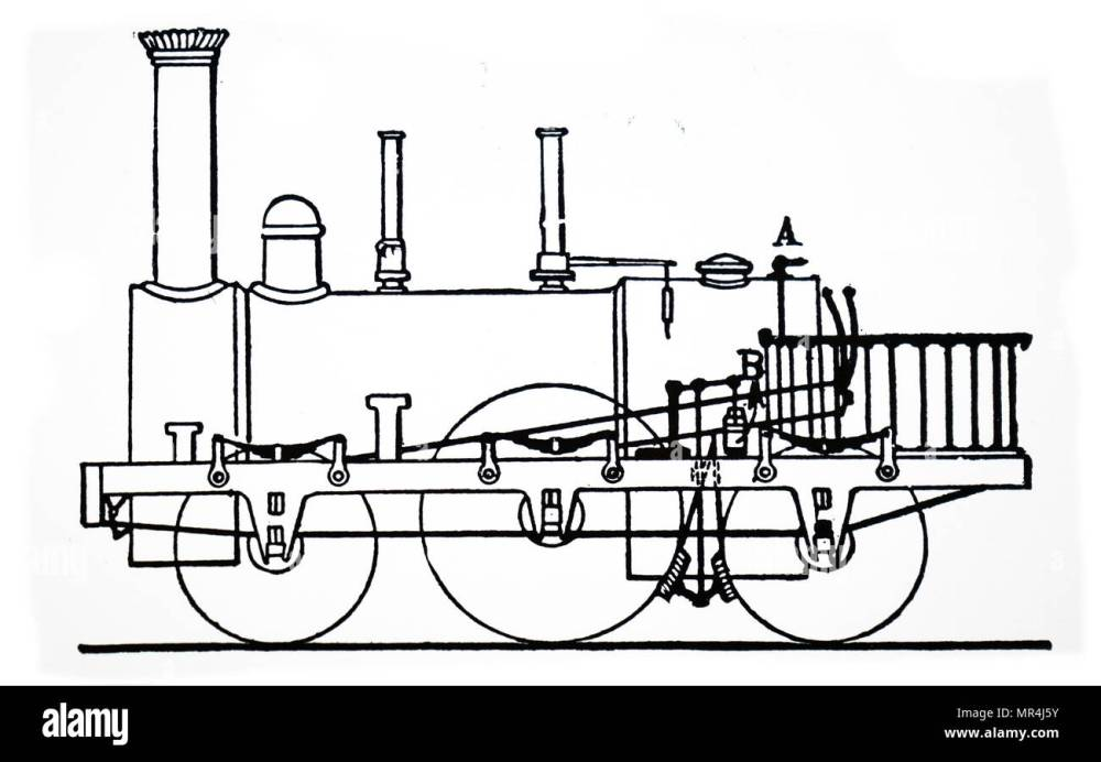 medium resolution of illustration depicting the steam brake operating on the driving wheels patented by robert stephenson