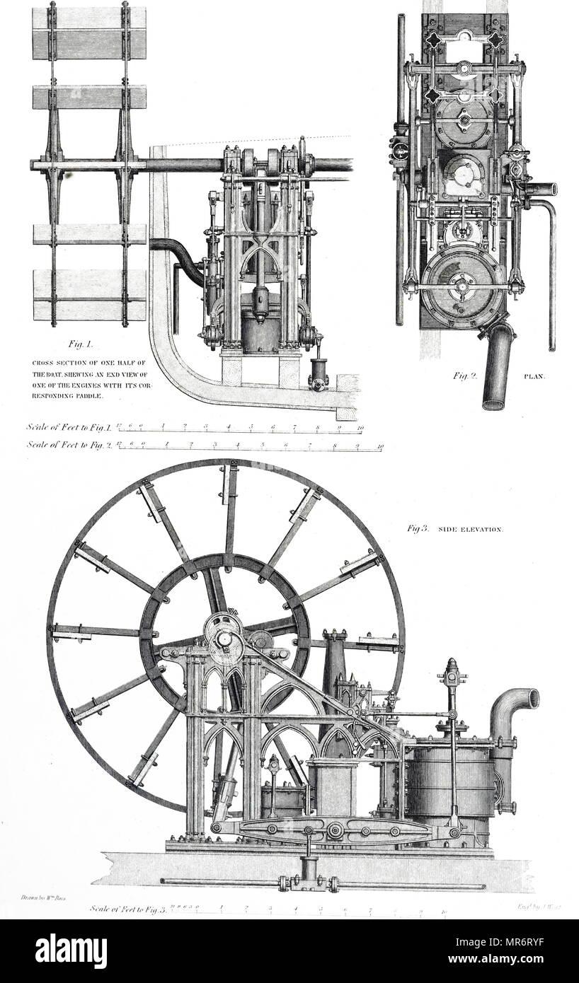 hight resolution of diagram of robert napier s marine steam engine robert napier 1791 1876 a