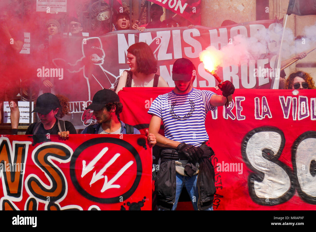 Lyon France 26th May 2018 Anarchists And Antifascist