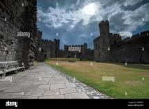 Interior Caernarfon Castle Wales Stock &