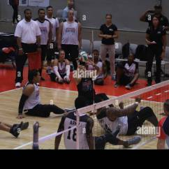 Wheelchair Volleyball Chairs For Small Spaces U S Army Sitting Team Plays Against The Austrailian Defence Force During 2017 Department Of Defense Warrior Games At