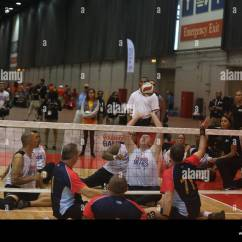 Wheelchair Volleyball Red Outdoor Chair Pillows U S Army Sitting Team Plays Against The Austrailian Defence Force During 2017 Department Of Defense Warrior Games At