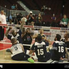 Wheelchair Volleyball Replica Fermob Luxembourg Lounge Chair U S Army Sitting Team Play Against The Navy During 2017 Department Of Defense Warrior Games At Chicago Ill