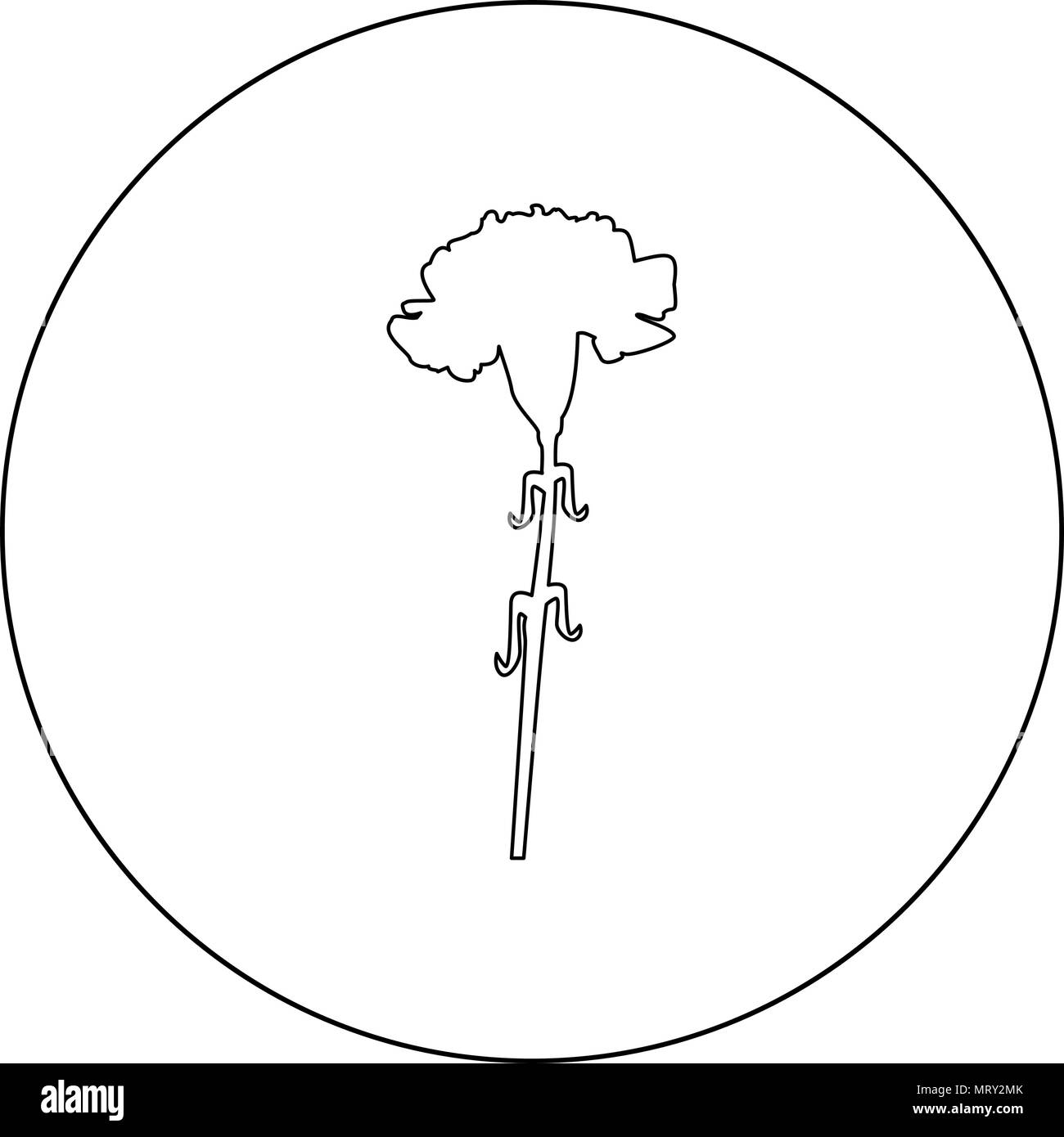 hight resolution of carnation icon black color in circle vector illustration stock image