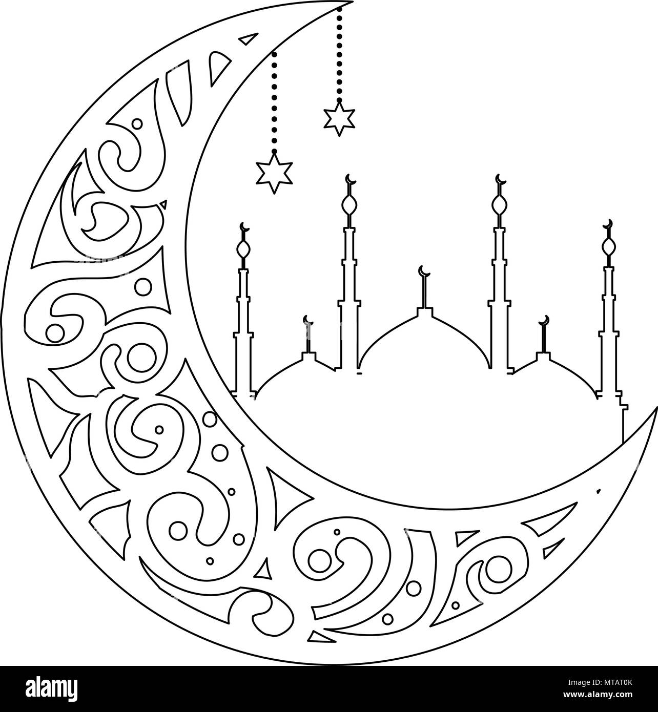 Ramadan Moon Black And White Stock Photos Amp Images