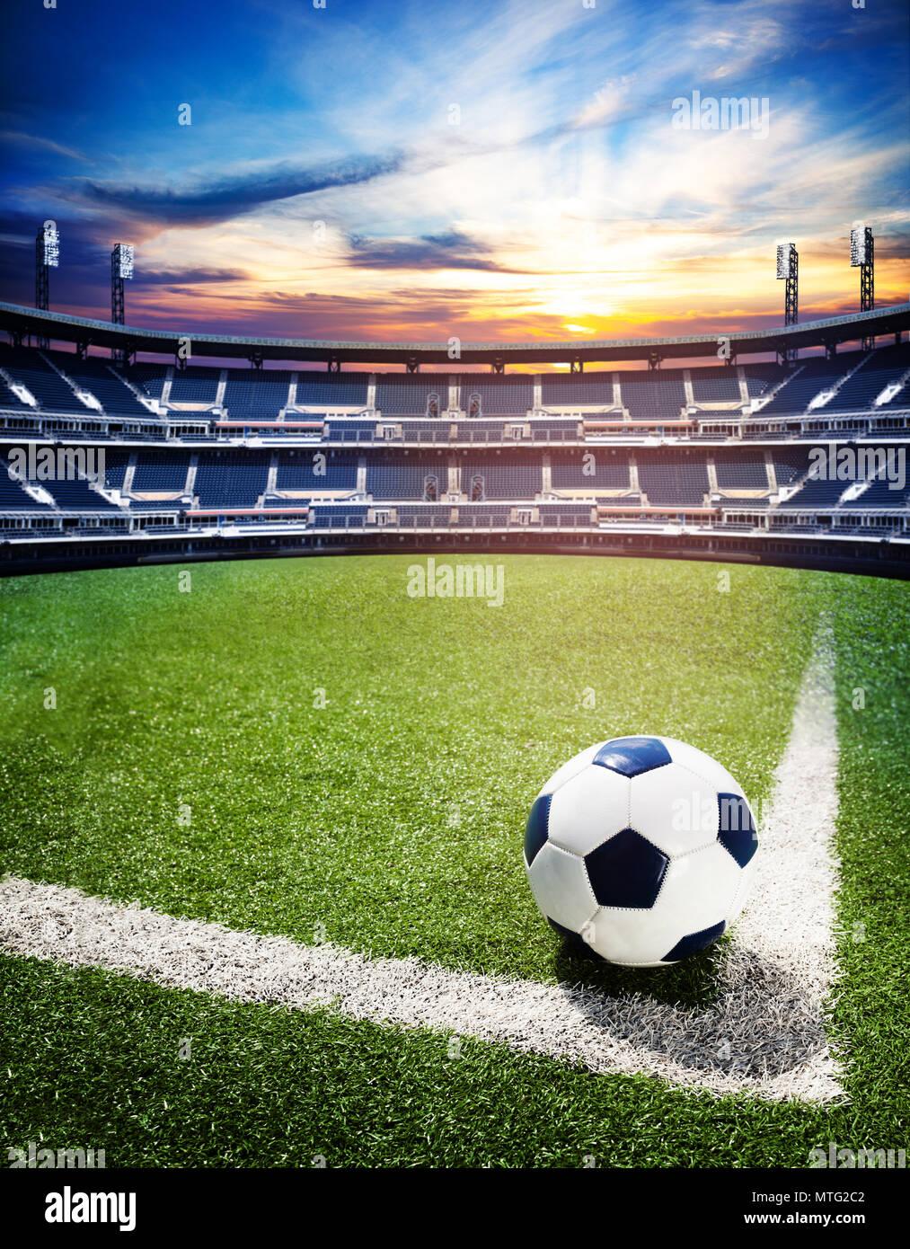 concept of soccer world