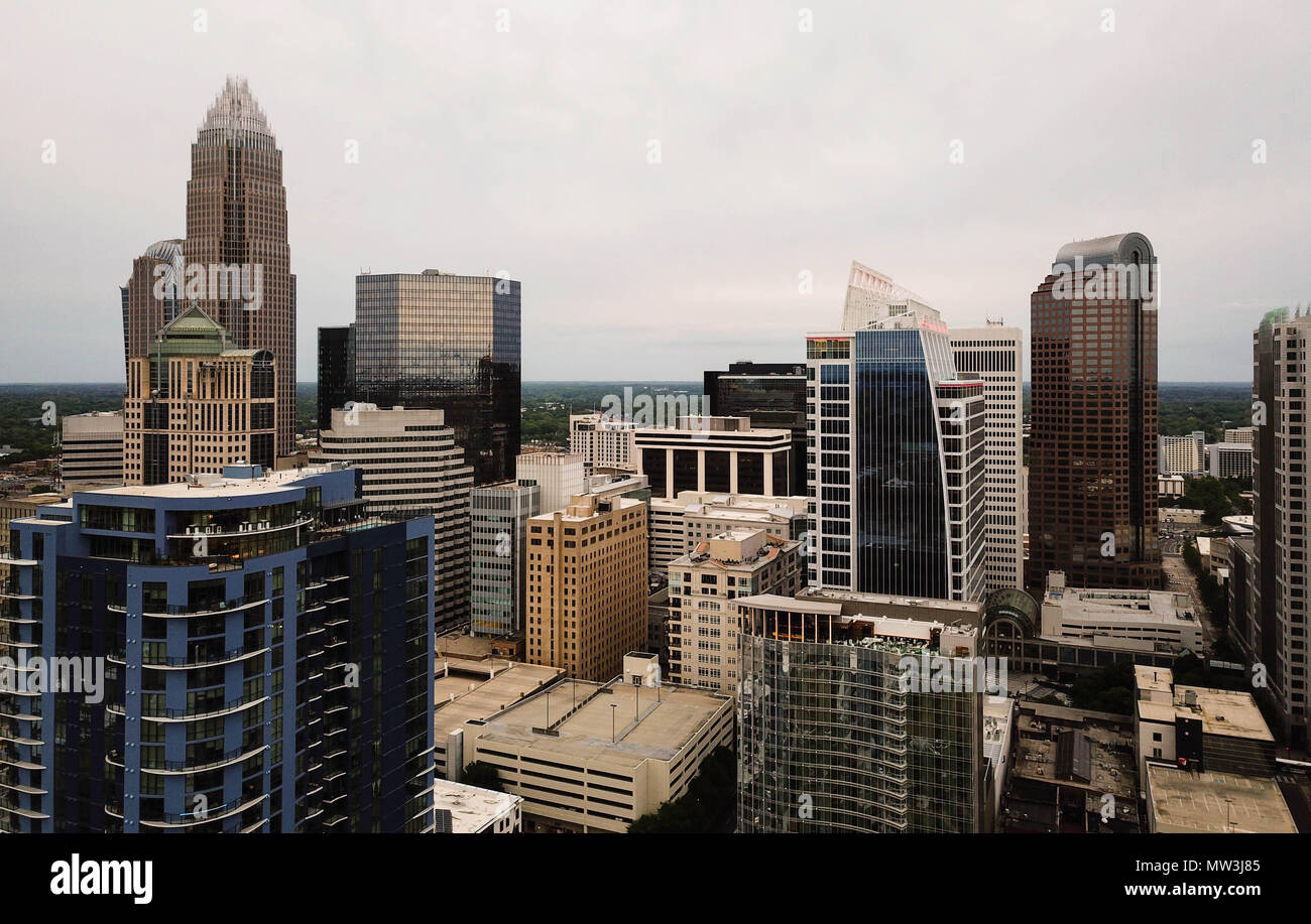 View Over City Charlotte Nc