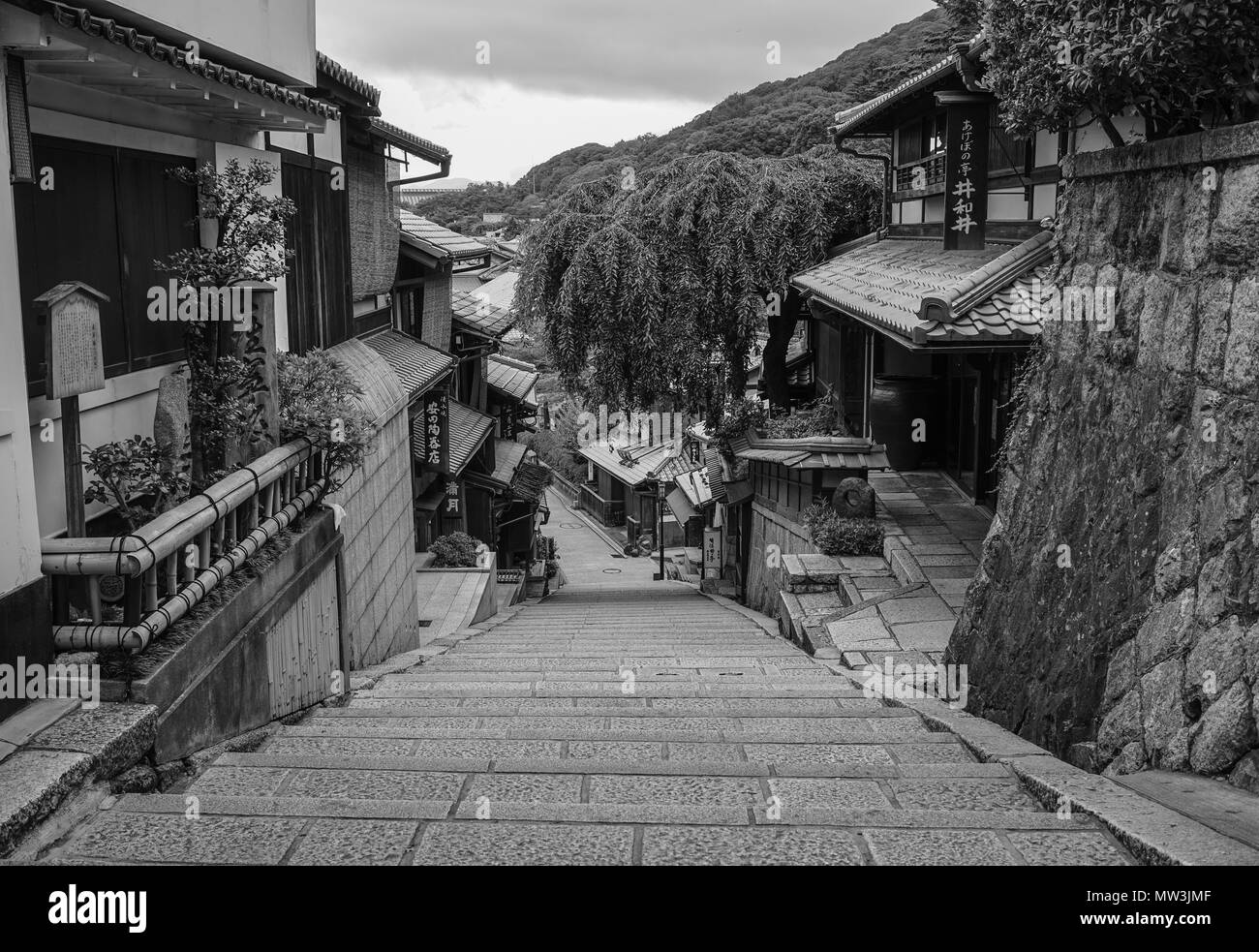 Old Houses Japan Black And White Stock Photos Images Alamy
