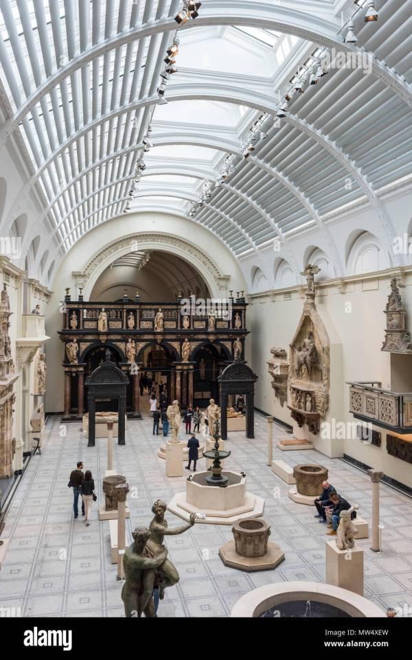 Victoria And Albert Museum Interior Stock &
