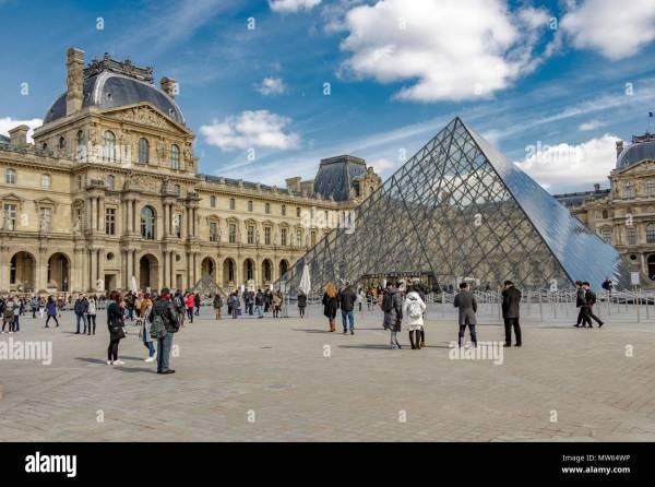 Louvre Entrance Stock &