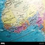 West Africa Map On A Globe Focused On Ivory Coast Stock Photo Alamy