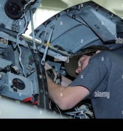 aaron miller 309th aircraft maintenance and regeneration group aircraft technician installs a wiring harness [ 1300 x 955 Pixel ]