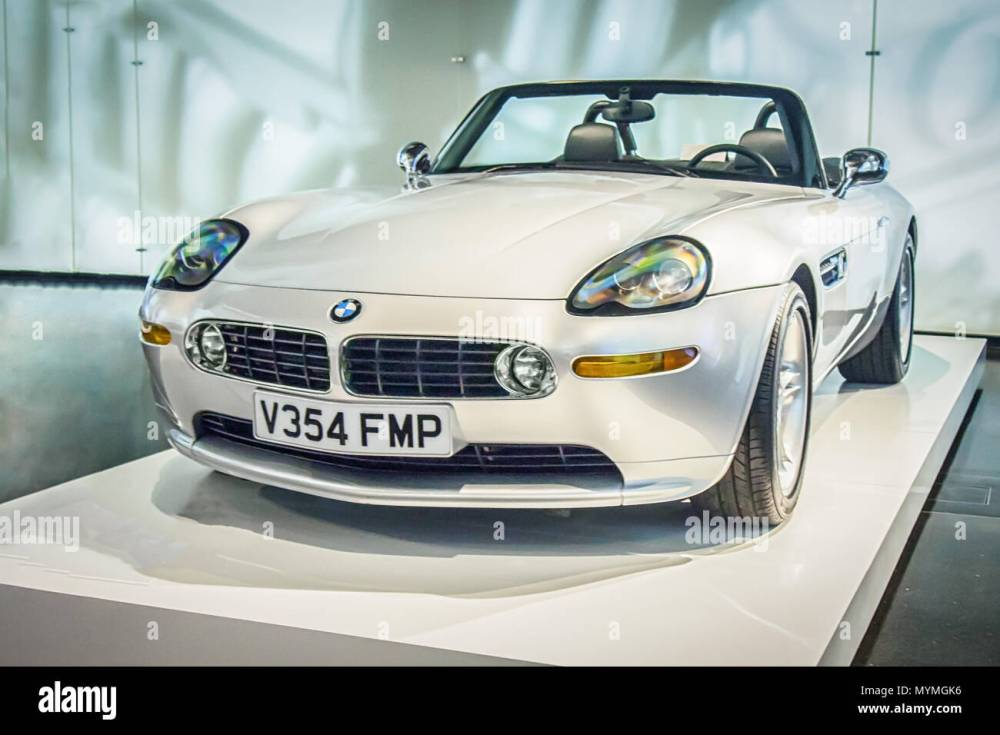 medium resolution of munich germany april 8 2017 1995 bmw z8 in the bmw museum