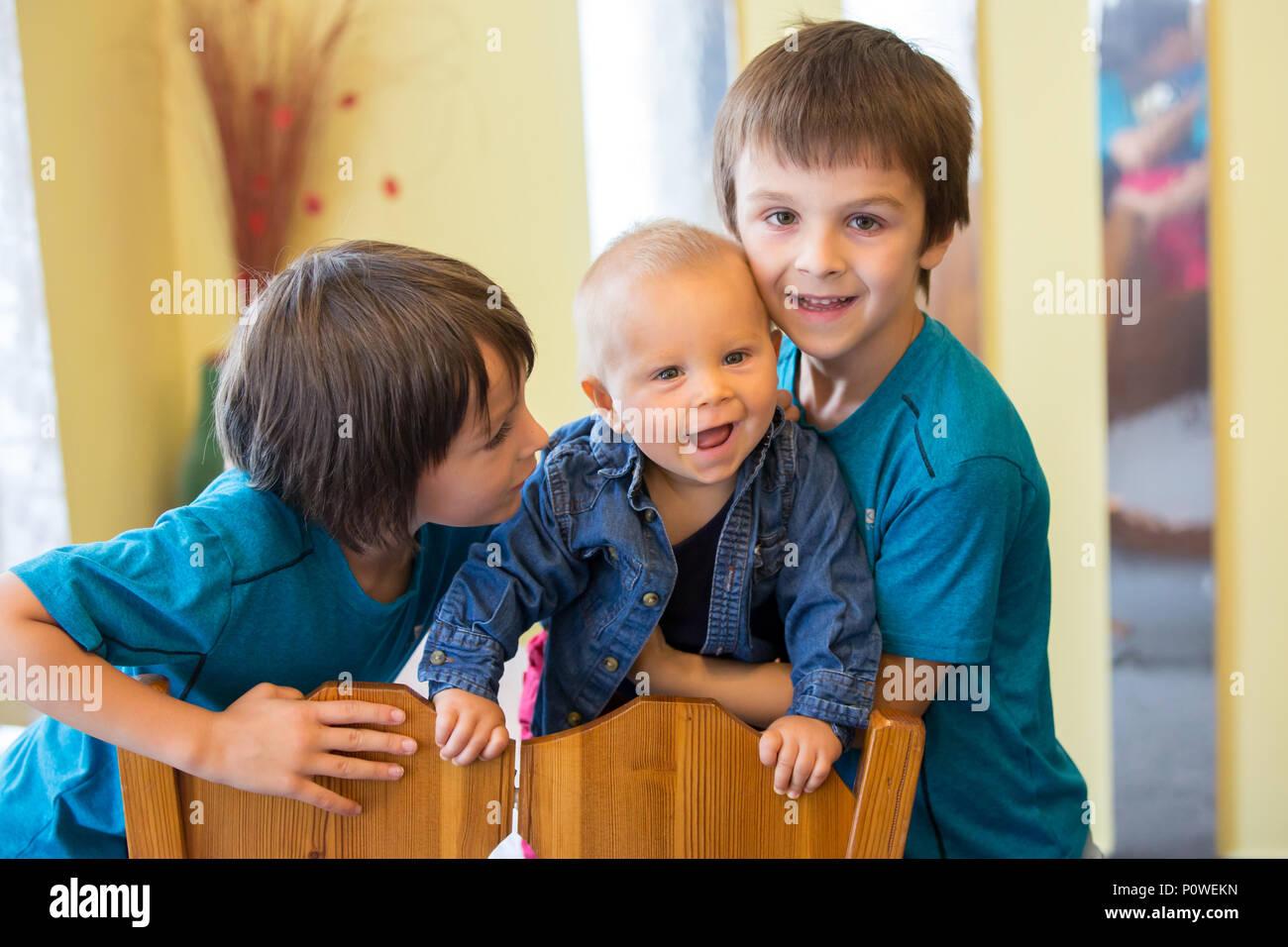 two happy little preschool
