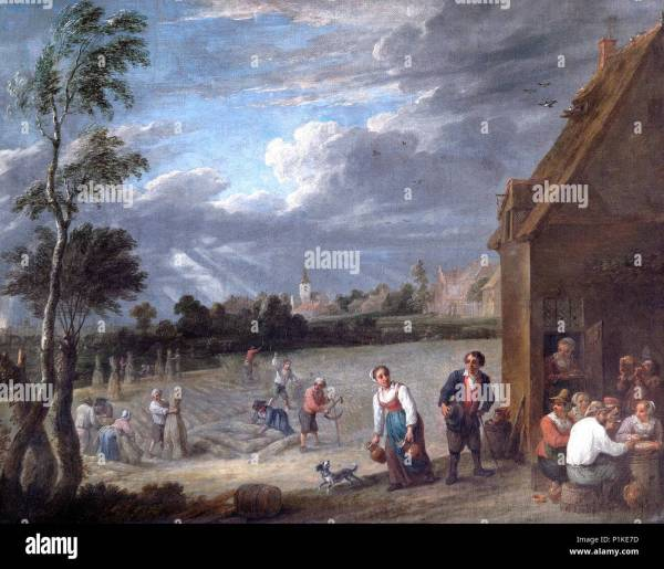 English Countryside Painting Stock &