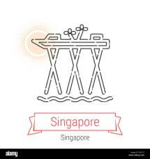 Singapore Icon Cut Stock & - Alamy