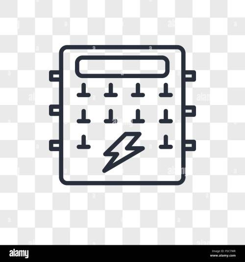 small resolution of fuse box vector icon isolated on transparent background fuse box logo concept