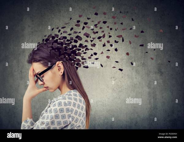 Beautiful Woman Brain Damage