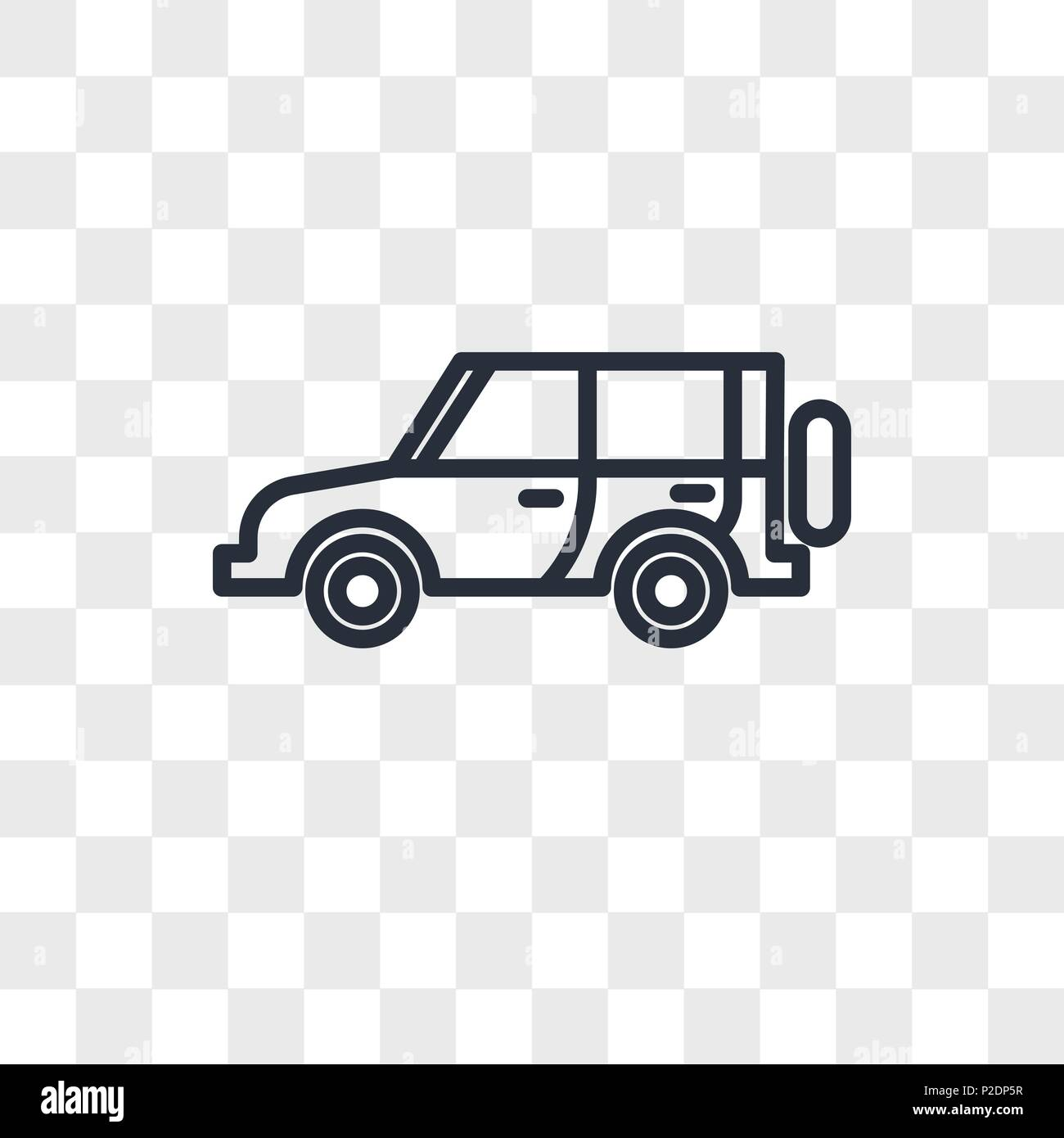 jeep vector icon isolated