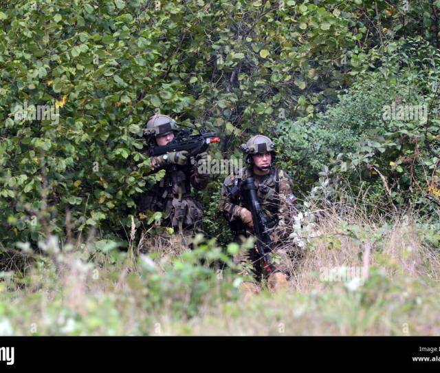 Slovenian Army Soldiers From The 74th Motorized Battalion Prepare To Move To Secure An Objective Sept 15 2016 During Training As Part Of Exercise