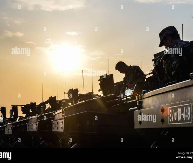 Croatian Armed Forces Soldiers Prepare For Movement Sept 14 2016 As Part Of Exercise Immediate Response 16 Held At The Croatian Armed Forces Training