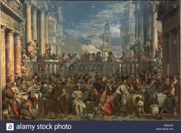 Jesus Cana Wedding Feast Stock & - Alamy