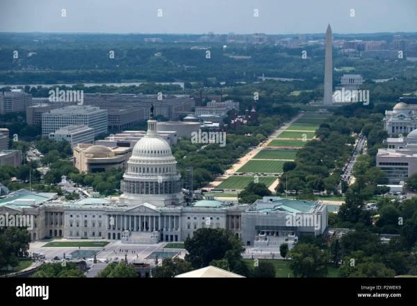Washington DC Helicopter Monuments