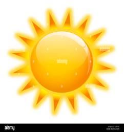 gold sun icone on white background isolated stock image [ 1300 x 1390 Pixel ]