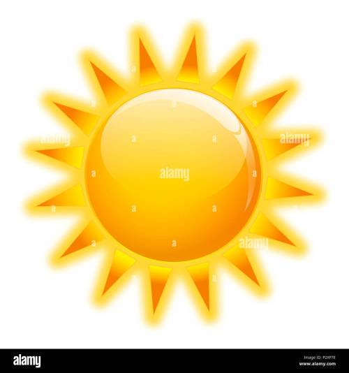 small resolution of gold sun icone on white background isolated stock image