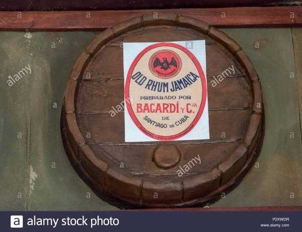 Rum Jamaica Bacardi And Cia Label In Oak