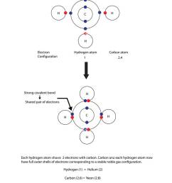 diagram to illustrate covalent bonding in methane with a fully labelled diagram stock image [ 919 x 1390 Pixel ]