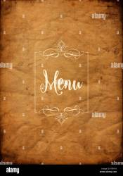 Old grunge style background with menu design Stock Photo Alamy