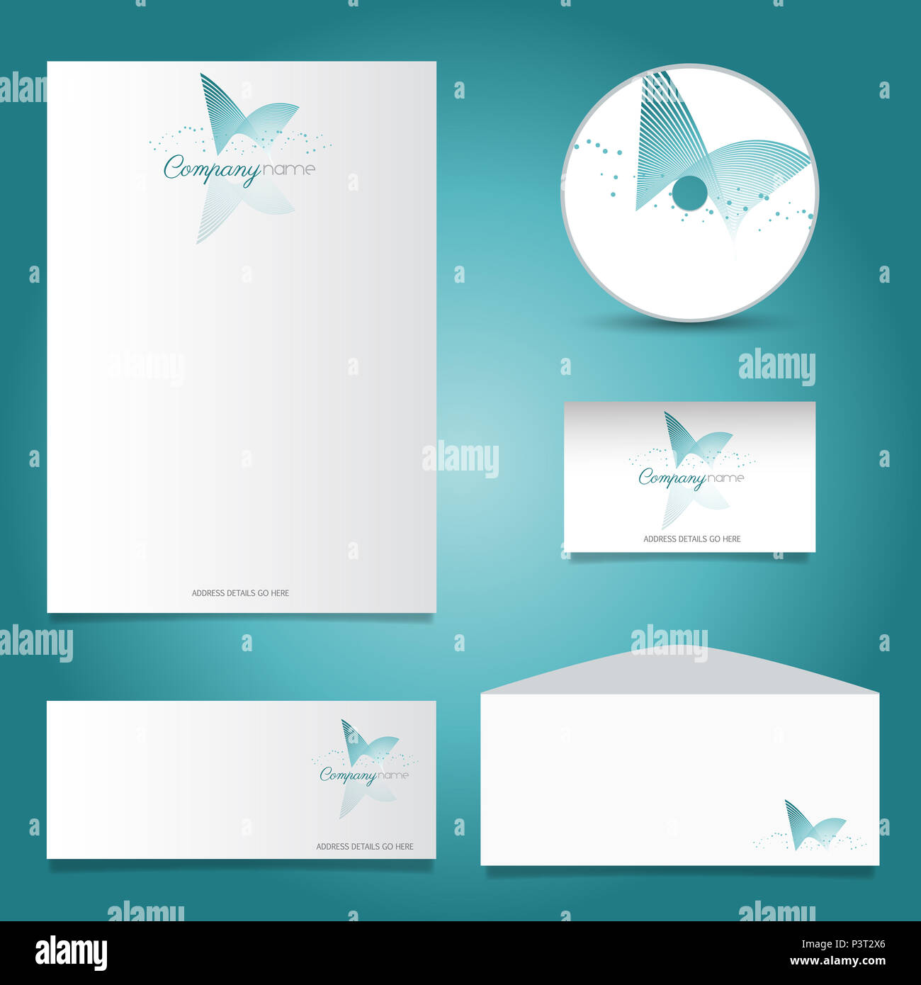 business stationery set with
