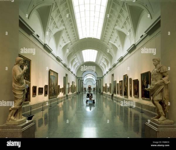 Indoor. View Of Madrid Prado Museum. Author