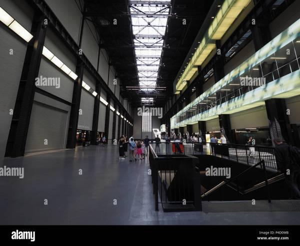 Tate Modern Interior Stock & - Alamy